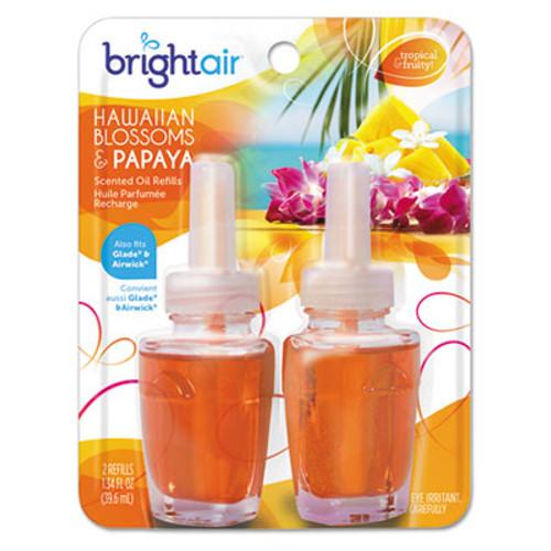 BRIGHT Air Electric Scented Oil Air Freshener Refill, Hawaiian Blossoms and Papaya, 2/Pack (BRI900256PK)
