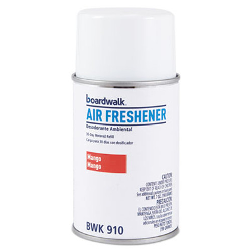 Boardwalk Metered Air Freshener Refill, Mango, 5.3 oz Aerosol, 12/Carton (BWK910)