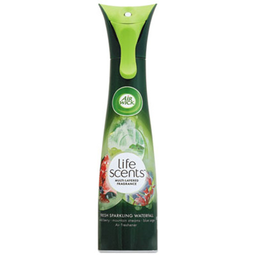 Air Wick Life Scents Room Mist, Fresh Sparkling Waterfall, 7.4 oz Can, 6/Carton (RAC95207)
