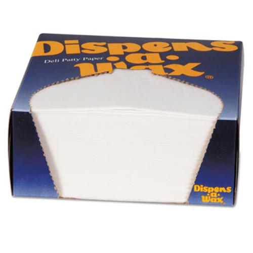 Dixie Dispens-A-Wax Waxed Deli Patty Paper, 4 3/4 x 5, White, 1000/Box (DXE434BX)