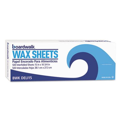 """Boardwalk Interfold-Sheet Deli Paper, 15"""" x 10 3/4"""", White, 500 Sheets/Box (BWKDELI15BX)"""