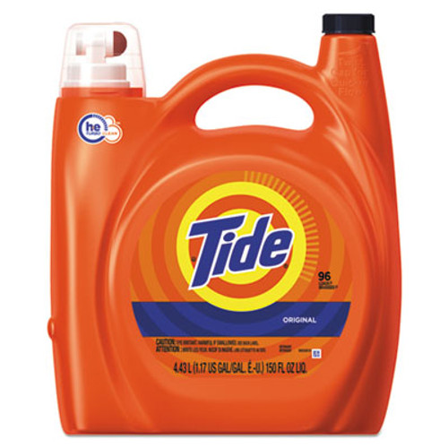 Tide HE Laundry Detergent, Original Scent, 150 oz Pump Bottle, 4/Carton (PGC23068CT)