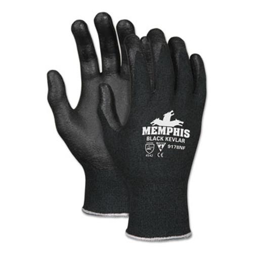 Memphis Kevlar Gloves 9178NF, Large, Black, Kevlar/Nitrile Foam (CRW9178NFL)