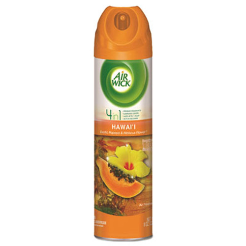 Air Wick 4 in 1 Aerosol Air Freshener, 8 oz Can, Hawaii Exotic Papaya & Hibiscus Flower (RAC85257EA)