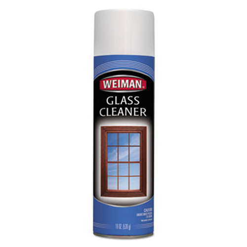 WEIMAN Foaming Glass Cleaner, 19 oz Aerosol Can, 6/Carton (WMN10CT)