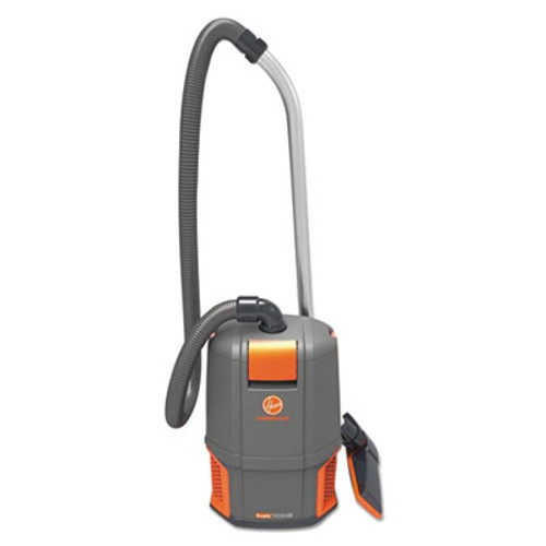 Hoover HushTone Backpack Vacuum Cleaner, 11.7 lb., Gray/Orange (HVRCH34006)