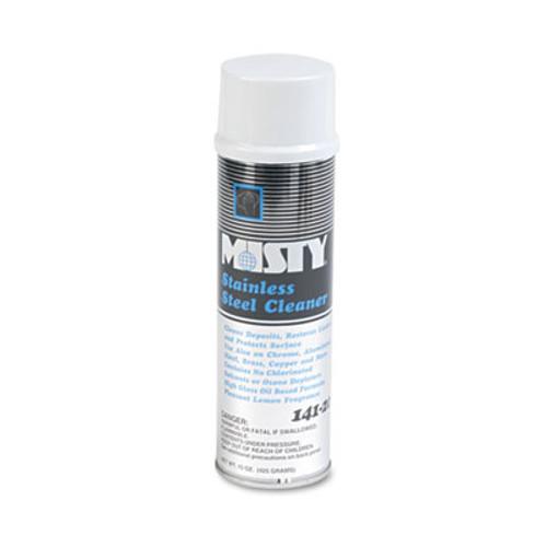 Misty Stainless Steel Cleaner & Polish, Lemon Scent, 15oz Aerosol, 12/Carton (AMR1001541)