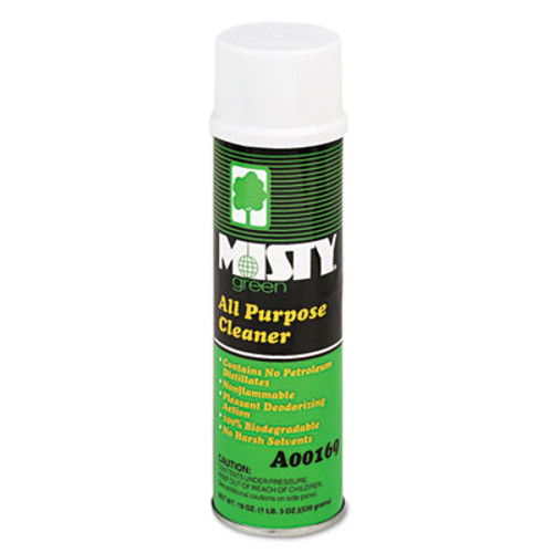 Misty Green All-Purpose Cleaner, Citrus Scent, 19oz Aerosol, 12/Carton (AMR1001583)