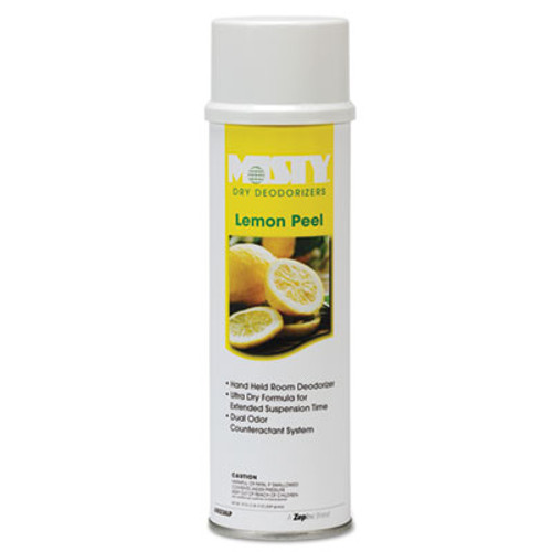 Misty Handheld Air Sanitizer/Deodorizer, Lemon Peel, 10oz Aerosol, 12/Carton (AMR1001842)