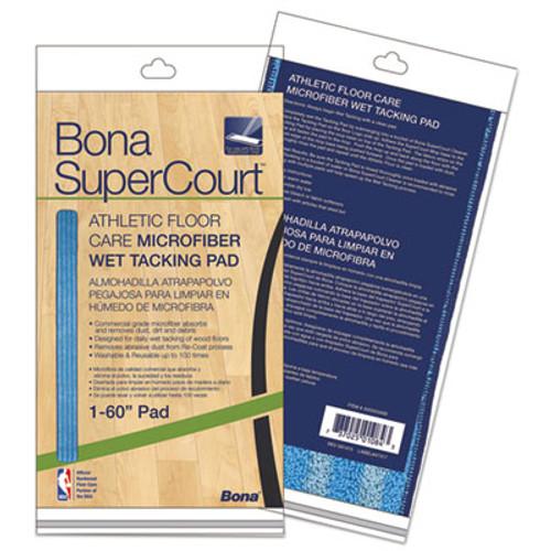 "Bona SuperCourt Athletic Floor Care Microfiber Wet Tacking Pad, 60"", Light/Dark Blue (BNAAX0003499)"