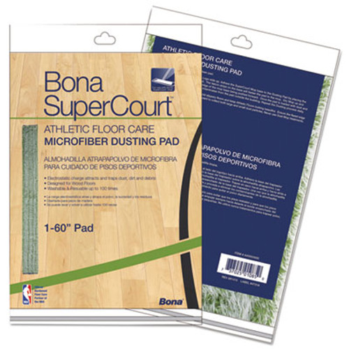 "Bona SuperCourt Athletic Floor Care Microfiber Dusting Pad, 60"", Green (BNAAX0003500)"