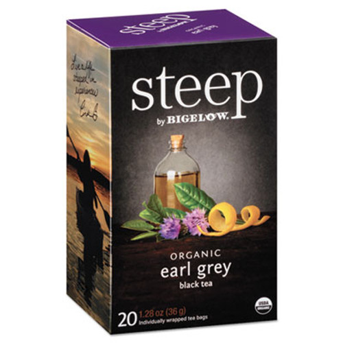 Bigelow steep Tea, Earl Grey, 1.28 oz Tea Bag, 20/Box (BTC17700)