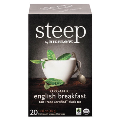 Bigelow steep Tea, English Breakfast, 1.6 oz Tea Bag, 20/Box (BTC17701)