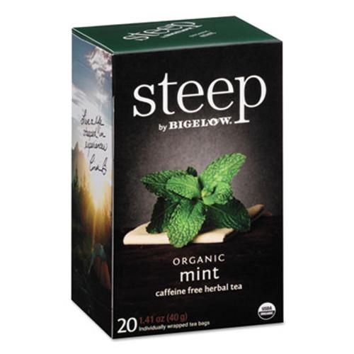 Bigelow steep Tea, Mint, 1.41 oz Tea Bag, 20/Box (BTC17709)