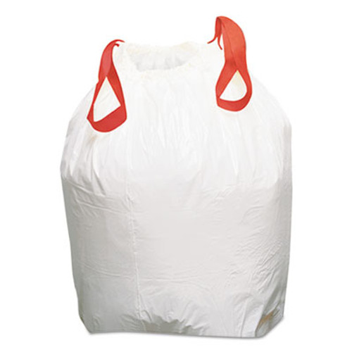 Boardwalk Drawstring Low-Density Can Liners, 13gal, 0.8 mil, White, 100/Carton (BWK1DK100)
