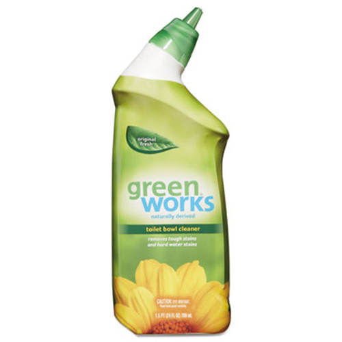 Green Works Toilet Bowl Cleaner, Original Fresh, 24 oz Squeeze Bottle (CLO31597EA)