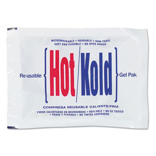 """PhysiciansCare Reusable Hot/Cold Pack, 8.63"""" Long, White (FAO13462)"""