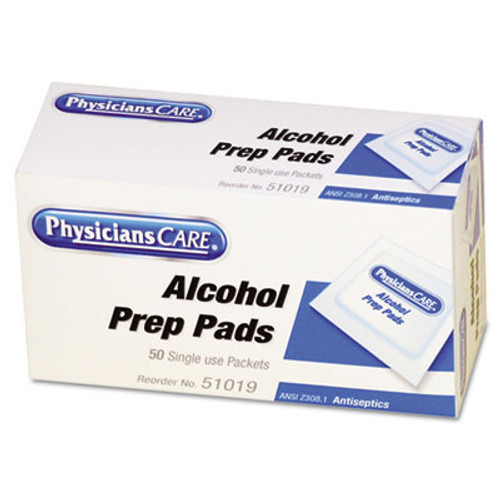 PhysiciansCare First Aid Alcohol Pads, 50/Box (FAO51019)