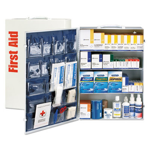 First Aid Only ANSI Class B+ 4 Shelf First Aid Station with Medications, 1437 Pieces (FAO90576)
