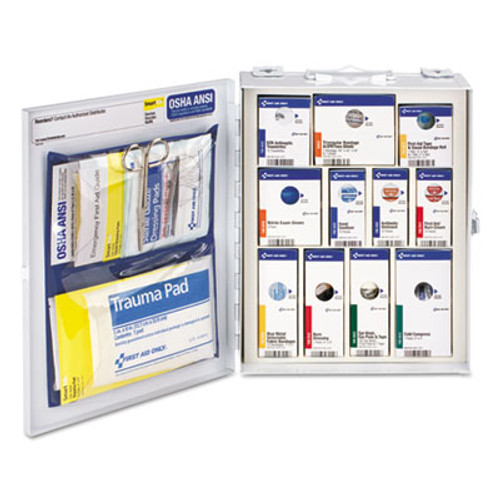 First Aid Only ANSI 2015 SmartCompliance Food Service Cabinet w/o Medication,25 People,94 Piece (FAO90658)