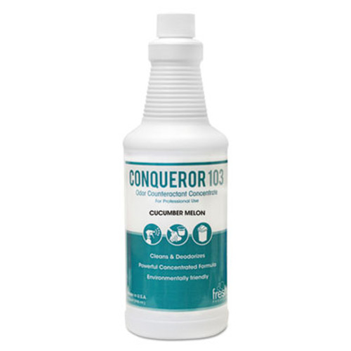 Fresh Products Bio-C 105 Odor Counteractant Concentrate, Cucumber Melon, 1qt Bottle,12/Ctn (FRS1232WBCMF)