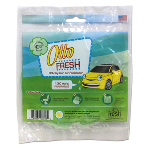 Fresh Products Otto Fresh Air Freshener Screen, Cucumber Melon, 12/Box (FRSOTTOCUMEL)