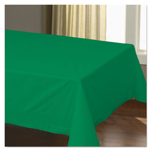 """Hoffmaster Cellutex Table Covers, Tissue/Polylined, 54"""" x 108"""", Jade Green, 25/Carton (HFM220629)"""