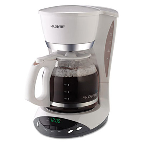 Mr. Coffee 12-Cup Programmable Coffeemaker, White (MFEDWX20RB)