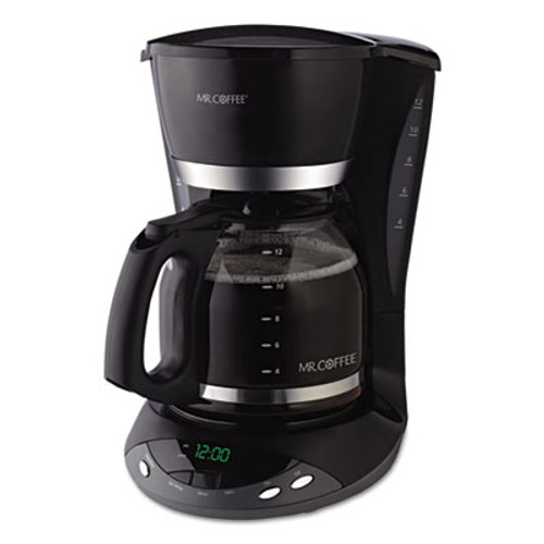 Mr. Coffee 12-Cup Programmable Coffeemaker, Black (MFEDWX23RB)