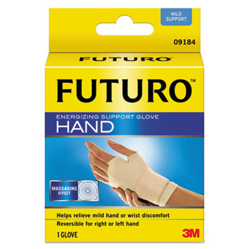"FUTURO Energizing Support Glove, Medium, Palm Size 7 1/2"" - 8 1/2"", Tan (MMM09183EN)"