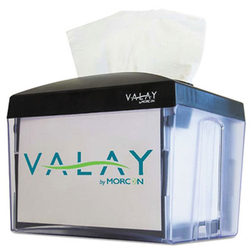 Morcon Paper Valay Nap Interfolded Napkin Dispenser, 6.14 x 8 x 6 1/2, Black (MORNT111EA)