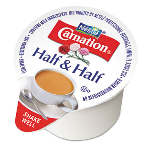 Carnation Half & Half, 0.304 oz Cups, 180/Carton (NES21501)