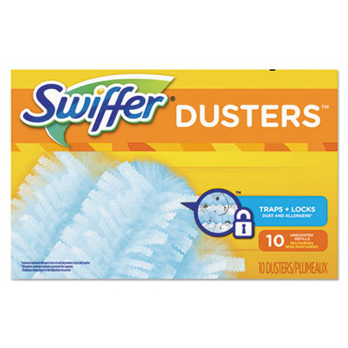 Swiffer Refill Dusters, Dust Lock Fiber, Light Blue, Unscented, 10/Box (PGC21459BX)