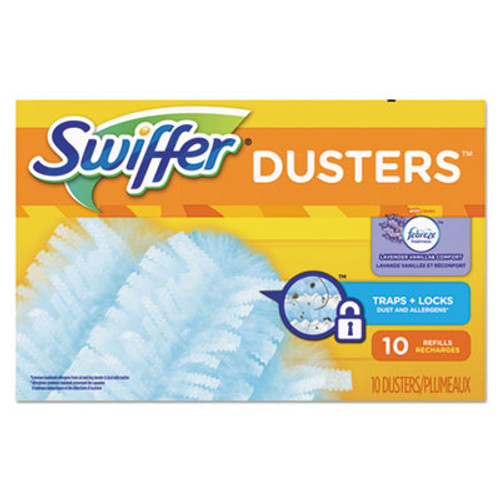 Swiffer Refill Dusters, Dust Lock Fiber, Light Blue, Lavender Vanilla Scent, 10/Box (PGC21461BX)