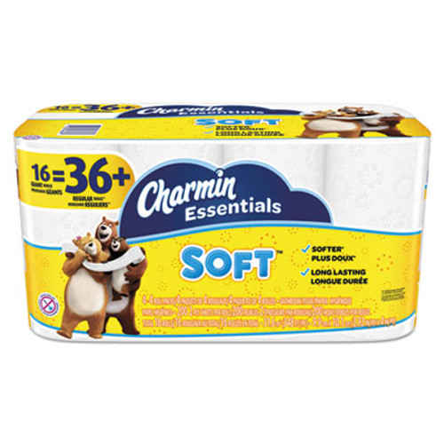 Charmin Essentials Soft Bathroom Tissue, 2-Ply, 4 x 3.92, 200/Roll, 16 Roll/Pack (PGC96608)