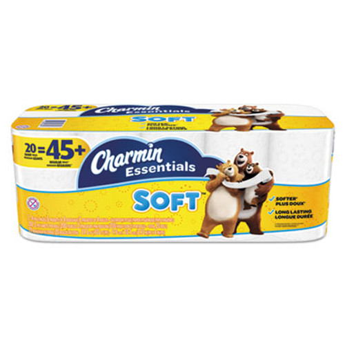 Charmin Essentials Soft Bathroom Tissue, 2-Ply, 4 x 3.92, 200/Roll, 20 Roll/Pack (PGC96609)
