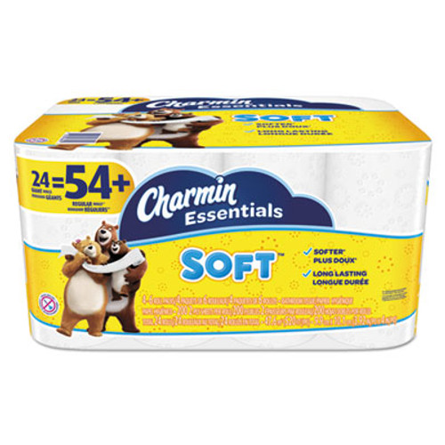 Charmin Essentials Soft Bathroom Tissue, 2-Ply, 4 x 3.92, 200/Roll, 24 Roll/Pack (PGC96610)