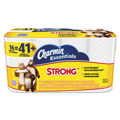 Charmin Essentials Strong Bathroom Tissue, 1-Ply, 4 x 3.92, 300/Roll, 16 Roll/Pack (PGC96895)