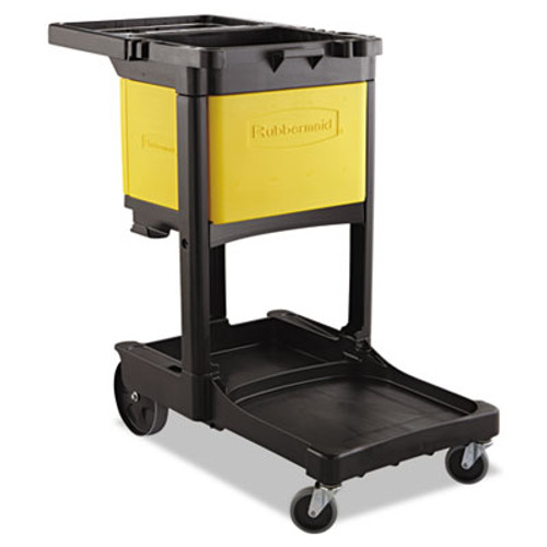 Rubbermaid Locking Cabinet, For Rubbermaid Commercial Cleaning Carts, Yellow (RCP6181YEL)