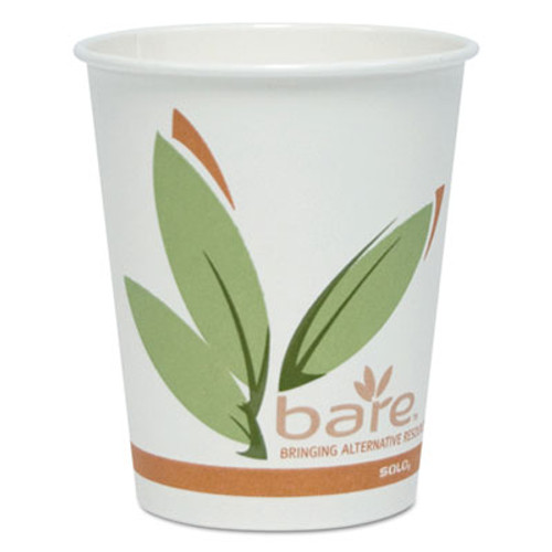 Dart Bare by Solo Eco-Forward Recycled Content PCF Hot Cups, Paper, 10 oz, 300/Carton (SCCOF10RCJ8484)
