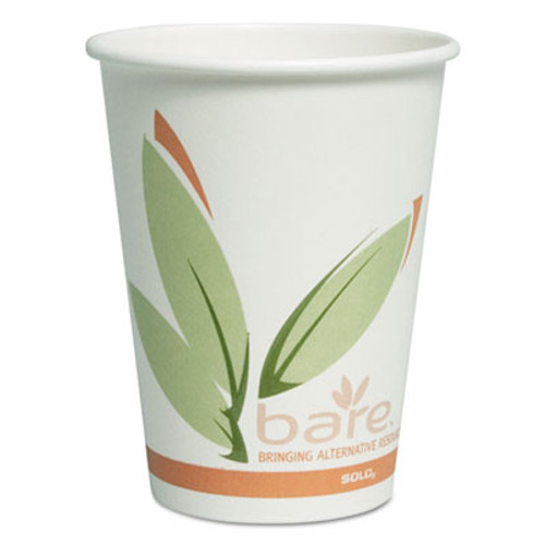 Dart Bare by Solo Eco-Forward Recycled Content PCF Paper Hot Cups, 12 oz, 300/Carton (SCCOF12RCJ8484)