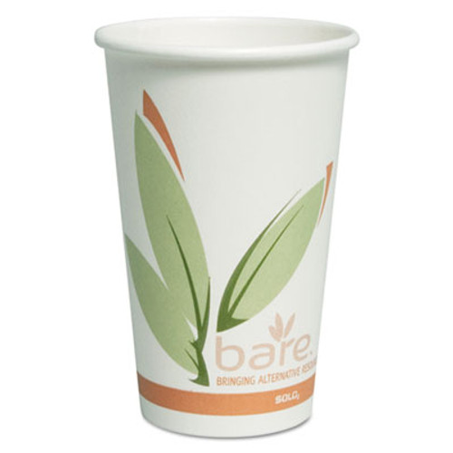 Dart Bare by Solo Eco-Forward Recycled Content PCF Paper Hot Cups, 16 oz, 300/Ct (SCCOF16RCJ8484)