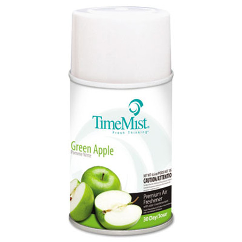 TimeMist Metered Fragrance Dispenser Refills, Green Apple 5.3 oz, 12/Carton (TMS1042694)