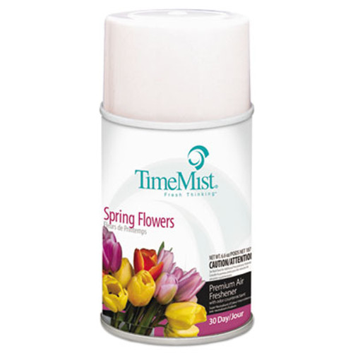 TimeMist Air Freshener Dispenser Refill, Spring Flowers, 6.6 oz, Aerosol (TMS1042712)