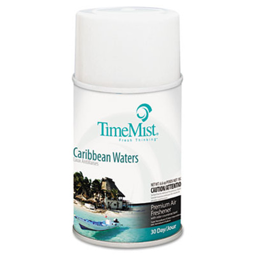TimeMist Metered Fragrance Dispenser Refill, Caribbean Waters, 6.6 oz, Aerosol (TMS1042756)