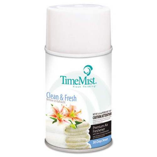 TimeMist Metered Aerosol Fragrance Dispenser Refill, Clean N Fresh, 6.6oz (TMS1042771EA)