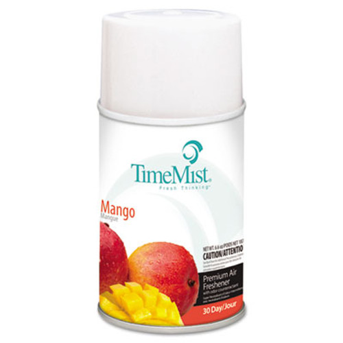 TimeMist Metered Fragrance Dispenser Refills, Mango, 6.6oz, Aerosol, 12/Carton (TMS1042810)