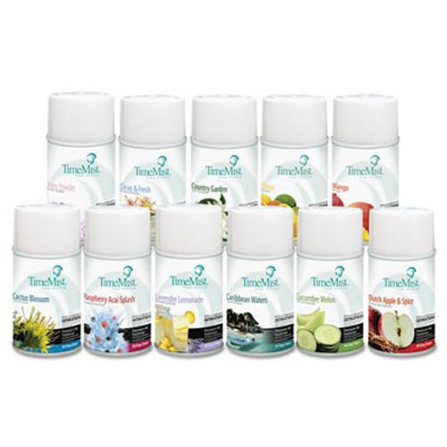 TimeMist Fragrance Dispenser Refills, Assorted Fragrances, 6.6oz, 12/Carton (TMS1043978)