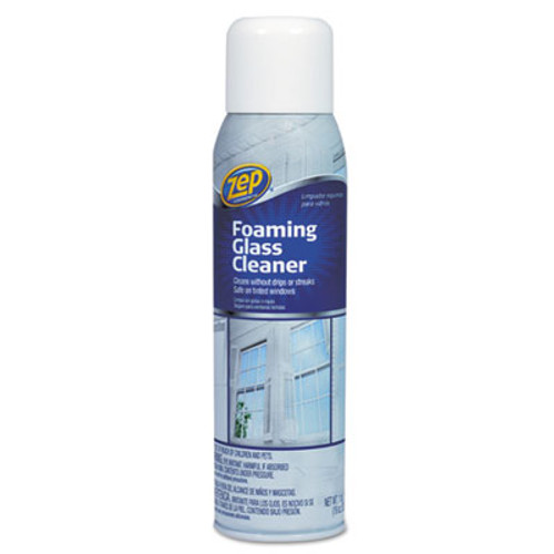 Zep Commercial Foaming Glass Cleaner, 19 oz Aerosol Can, Pleasant Scent (ZPE1046502)