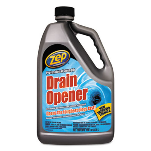 Zep Commercial Professional Strength Drain Opener, 1 gal Bottle (ZPE1047518)